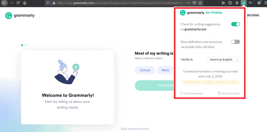 use grammarly premium free
