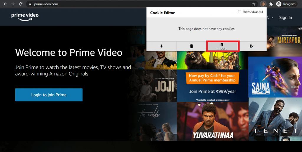 amazon prime video free account