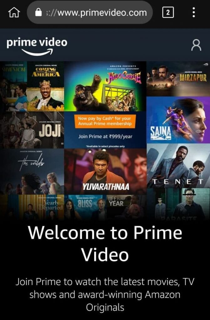 how to get prime video free
