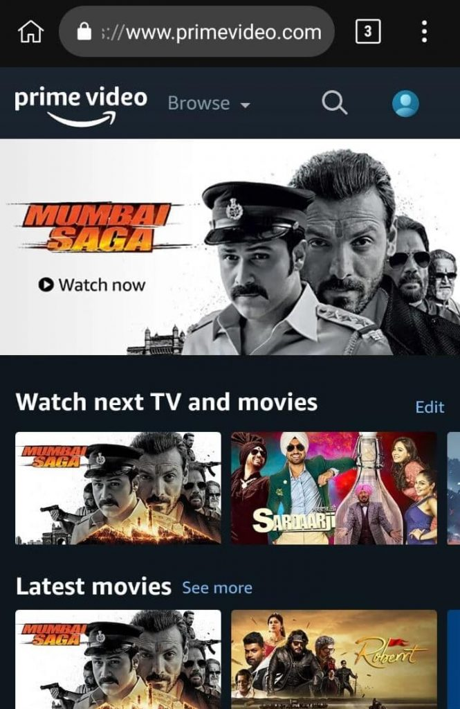 prime video free account for mobile