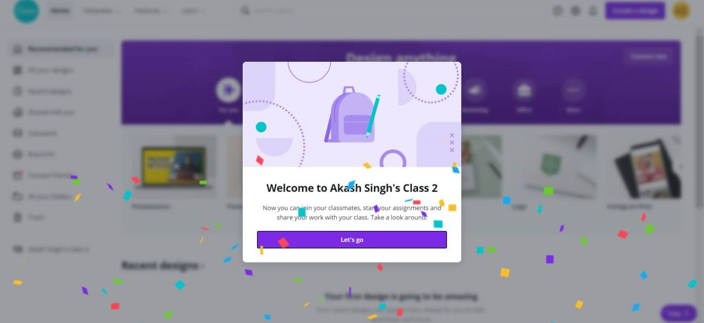 Canva Pro account for free in single click