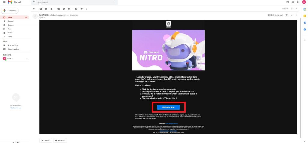 discord nitro offer code