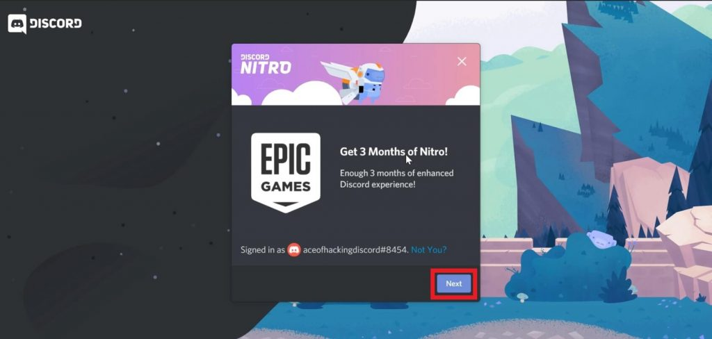 discord nitro redeem process