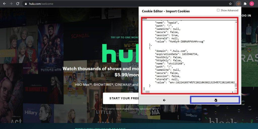free cookies for Hulu